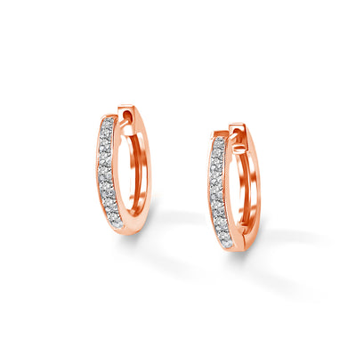 Halo Earrings in Rose Gold with Diamonds