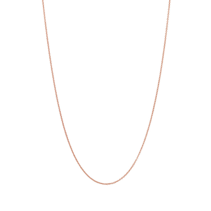 Adjustable Solid Gold Necklace Chain in 18 Karat Rose Gold - 50 CM