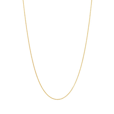Adjustable Solid Gold Necklace Chain in 18 Karat Yellow Gold - 70 CM