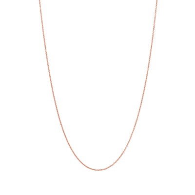 Adjustable Solid Gold Necklace Chain in 18 Karat Rose Gold - 70 CM