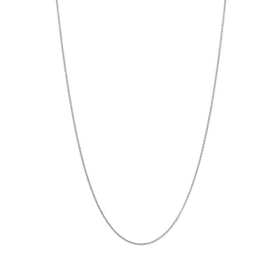 Adjustable Solid Gold Necklace Chain in 18 Karat White Gold - 70 CM