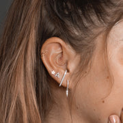 Single Ear Cuff in White Gold with Diamonds
