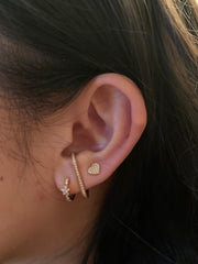 Single Ear Cuff in Rose Gold with Diamonds