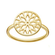 Signature Culet Ring in Yellow Gold