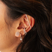Ear Bar in White Gold with Diamonds
