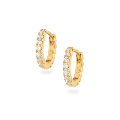Eternity Mini Huggies in Yellow Gold with Diamonds