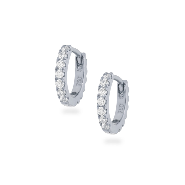 Eternity Mini Huggies in White Gold with Diamonds