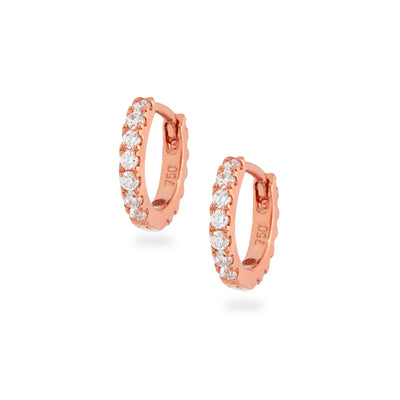 Eternity Mini Huggies in Rose Gold with Diamonds