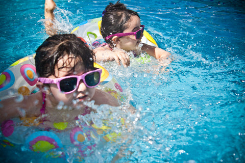 Swimming with sunglasses