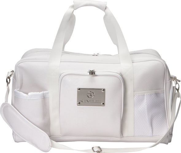 Snakeskin Luxury Gym Bag In White
