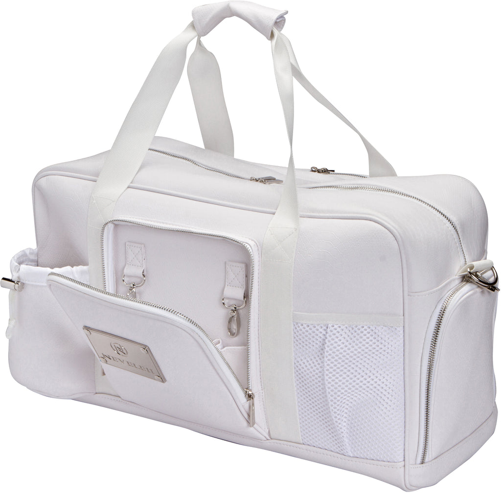 Snakeskin Luxury Gym Bag in White - Nevele11 Designer Bags