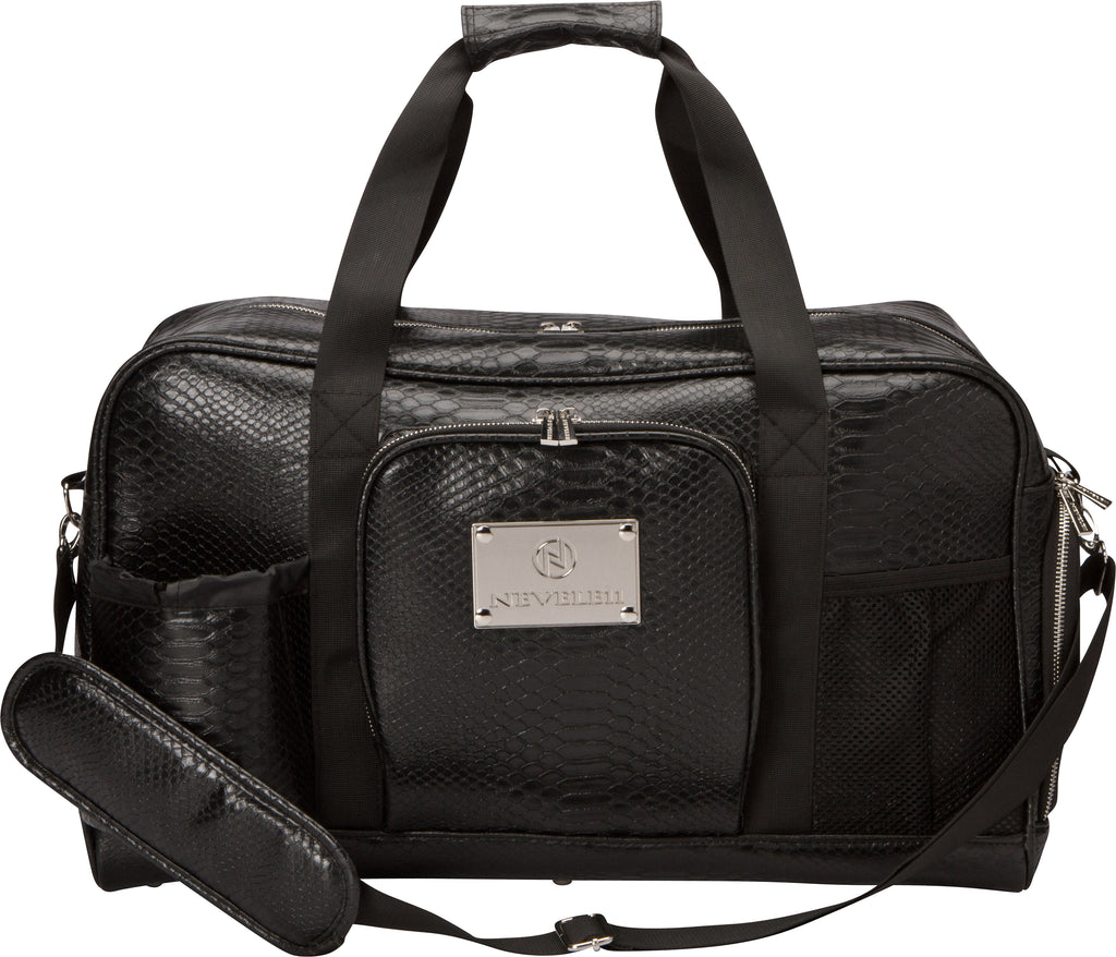 Snakeskin Luxury Gym Bag in Black - Nevele11 Designer Bags