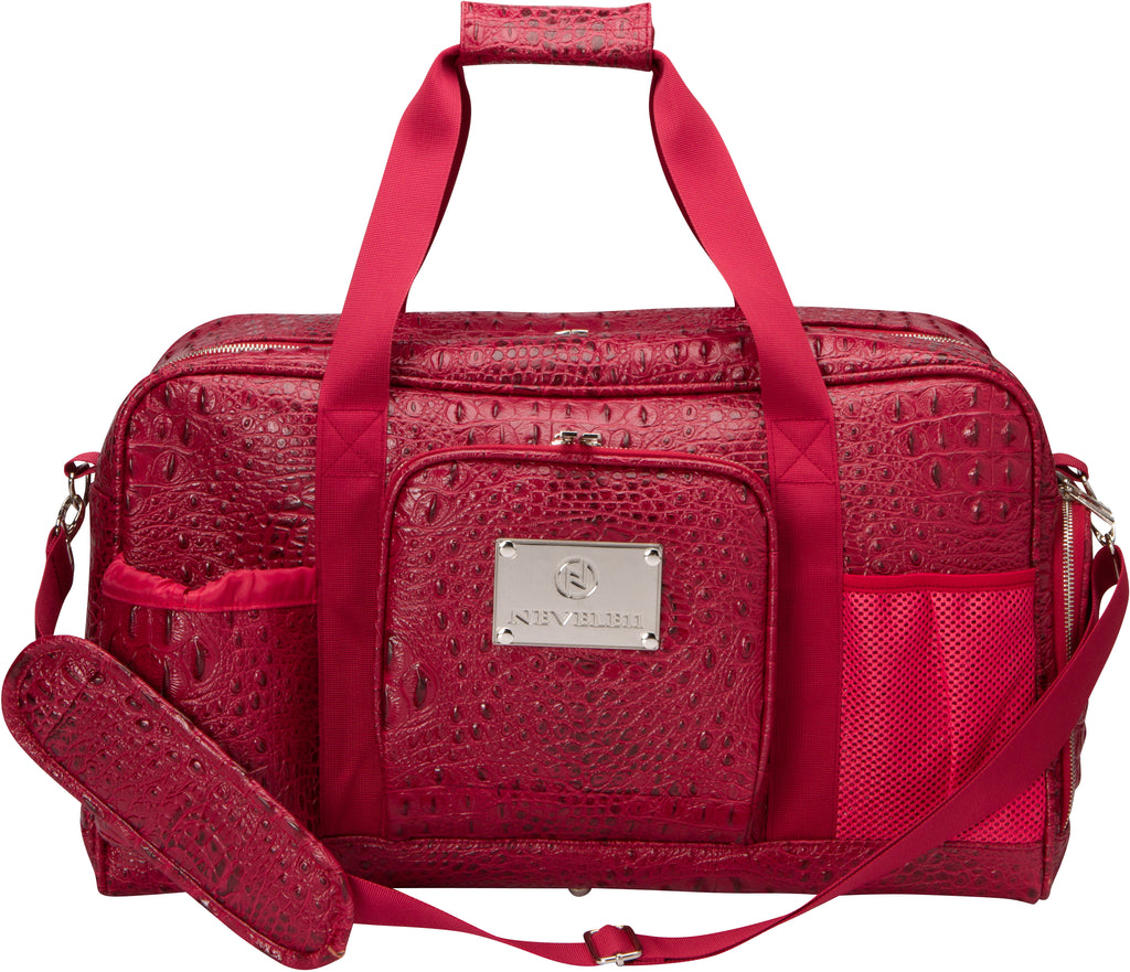 Crocodile Gym Bag in Red - Nevele11 Designer Bags