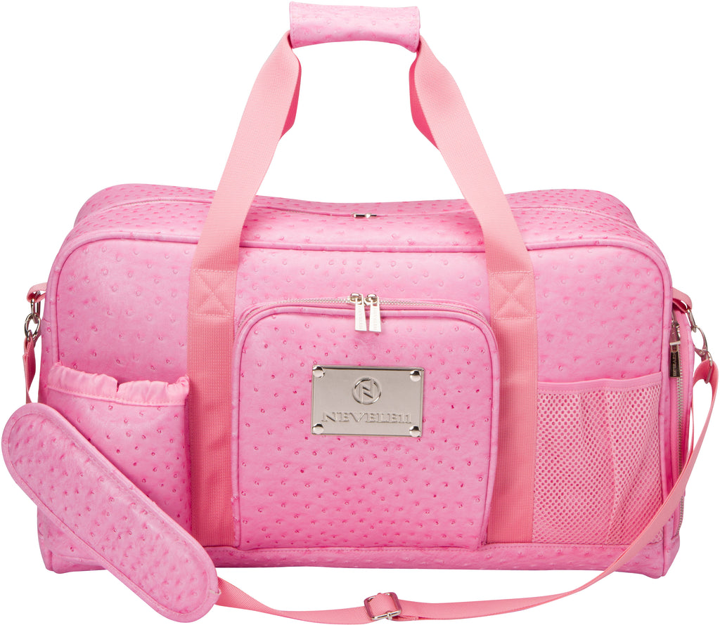 Ostrich Gym Bag in Pink - Nevele11 Designer Bags