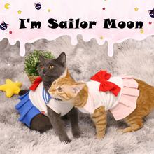 Load image into Gallery viewer, Senshi  Moon Pet Clothes Suit Costume Customization Dog Cat