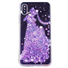 Load image into Gallery viewer, Senshi Moon Serenity Quicksand Liquid Glitter Phone Case
