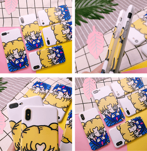 Sailor Moon With Luna Soft Phone Case