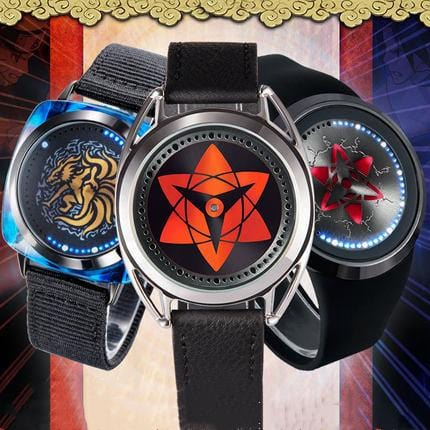 Sasuke&Ninetales Waterproof  LED Watch