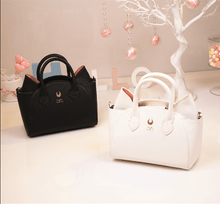 Load image into Gallery viewer, Black/White Sailor Moon Luna/Artemis Hand Bag
