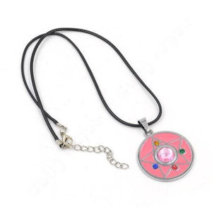 Sailor Moon Pink Moon Prism Crystal Necklace