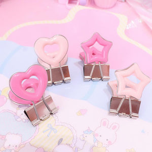 4pcs Ins Heart-shaped Long Tail Clip