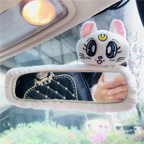 White/Pink/Blue Sailor Moon Car Interior Mirror Cover