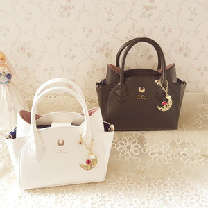 Black/White Sailor Moon Luna/Artemis Hand Bag