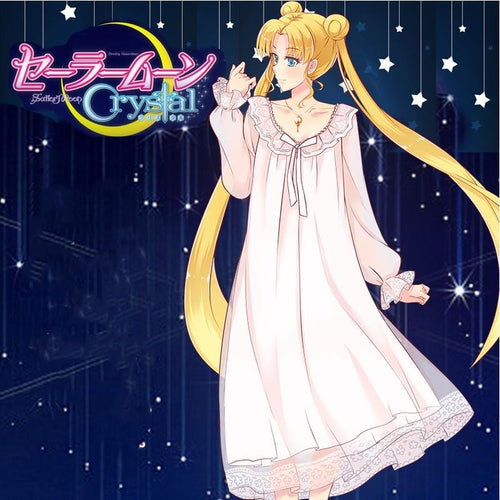 Sailor Moon Princess Skirt Night Gown Home Dress Anime Clothes