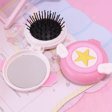 Load image into Gallery viewer, Air Cushion Comb/Massage Comb With Makeup Mirror/ Portable Folding Comb