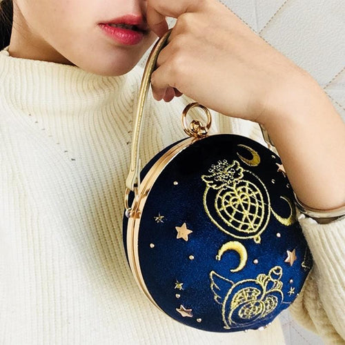 [Limited customization]Sailor Moon Velvet Star Air Handbag Metal Chain Bag