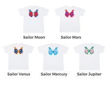Load image into Gallery viewer, Senshi Moon Soldiers Cotton Printing Bowknot Short Sleeve T-shirt