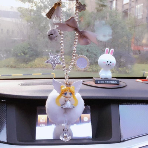Sailor Senshi Moon Cartoon Cute Car Ornaments