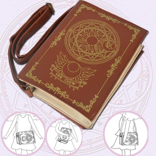 [Gift-Choice] Cardcaptor Sakura Clow Card Magic Array Book Single-Shoulder Bag