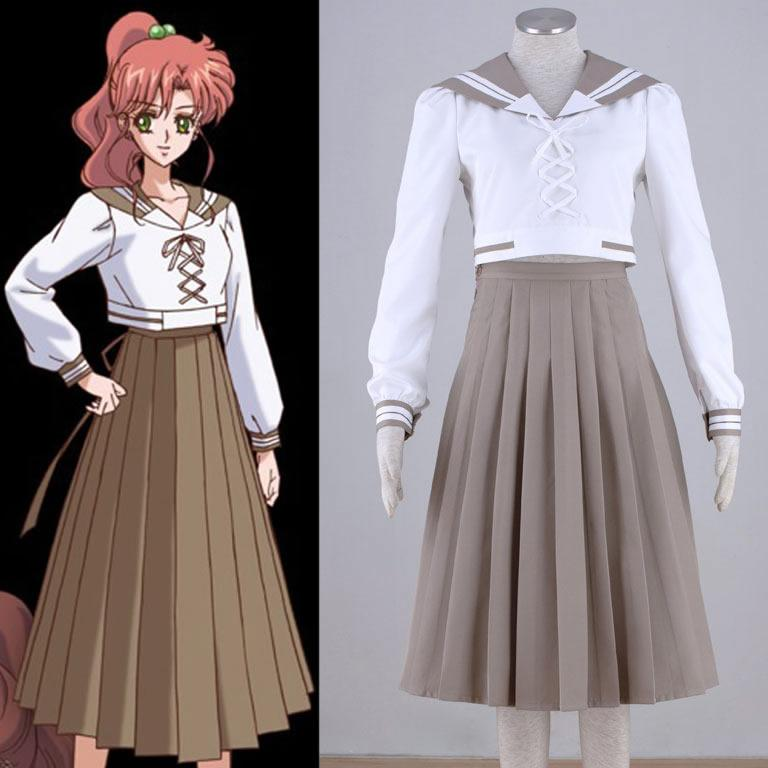 Sailor Moon Cosplay Clothes Makuto Kino Sailor Jupiter