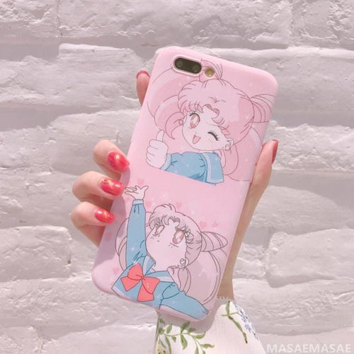 Pink Sailor Moon Chibi Moon Phone Case For iphone/HUAWEI