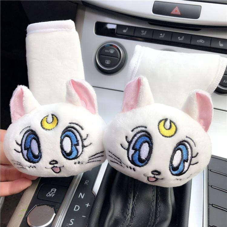 White/Pink/Blue Sailor Moon Car Hand Brake Cover