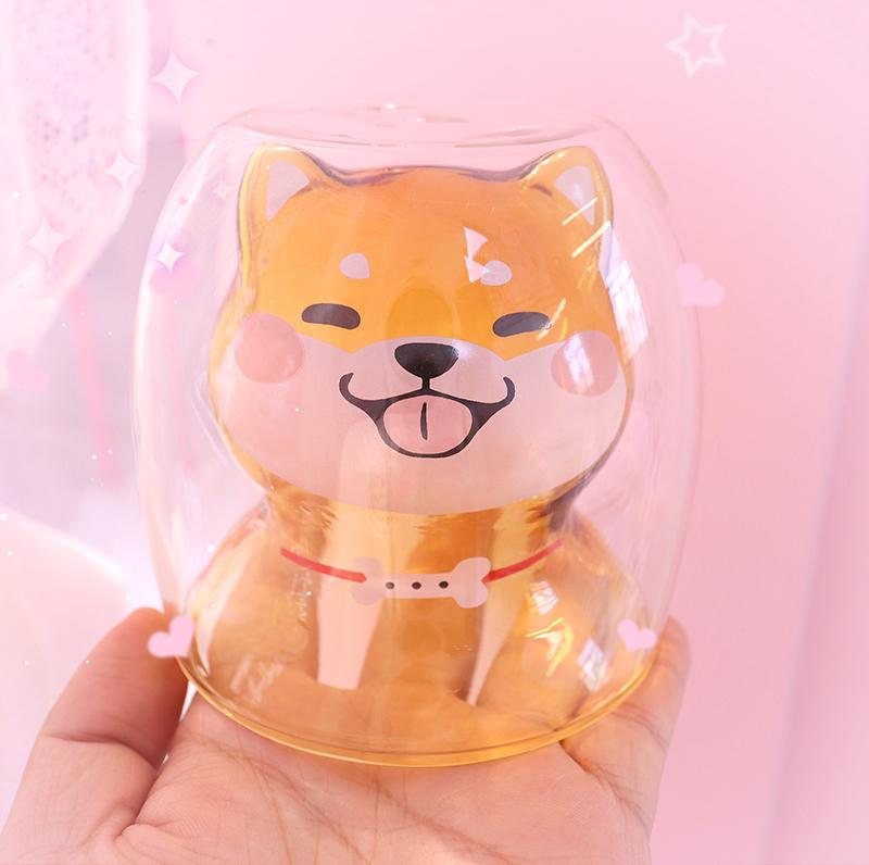 [Limited Quantity]Customize Double-decked Shiba Inu Milk Cup