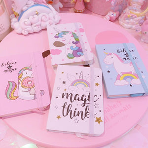 Unicorn Mini Notebook(Random Delivery Of Colours)