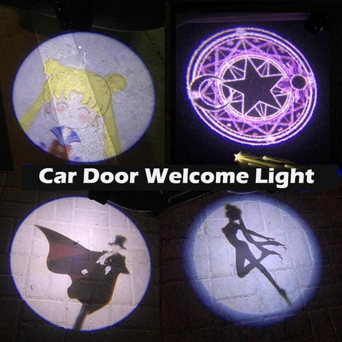 2 Pcs Sailor Moon/Cardcaptor Sakura Wireless Car Door Welcome Light