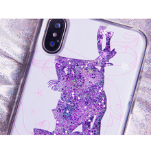 Load image into Gallery viewer, Sailor Moon Chibi Moon Sailor Saturn Quicksand Liquid Glitter Phone Case