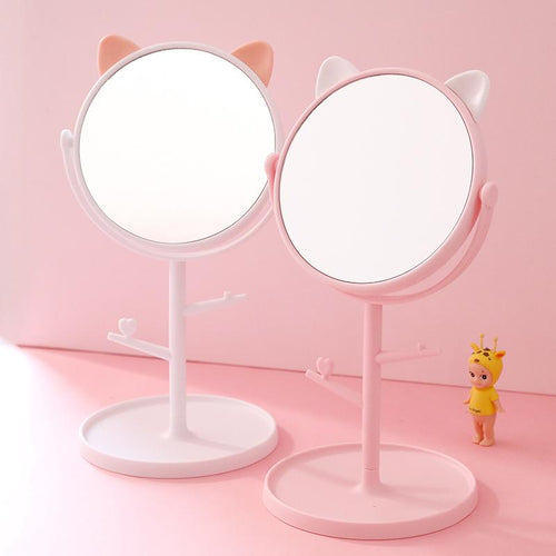 Cat Ear Rotating Cosmetic Mirror