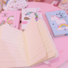 Load image into Gallery viewer, Unicorn Mini Notebook(Random Delivery Of Colours)