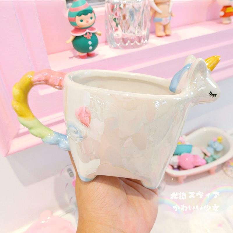 Unicorn Rainbow Mug Ceramic Cup