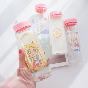 Sailor Senshi Moon Glasslock Bottle