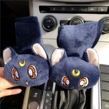 Load image into Gallery viewer, White/Pink/Blue Sailor Moon Car Hand Brake Cover