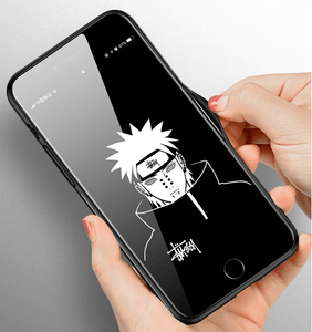 Naruto Blue-light Glass Mobile Phone Case