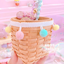 Load image into Gallery viewer, Macaron Wool Ball Wooden Storage Bucket