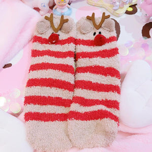 Coral Velvet Sleep Socks/Thick And Warm Female Socks