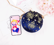 Load image into Gallery viewer, [Limited customization]Sailor Moon Velvet Star Air Handbag Metal Chain Bag