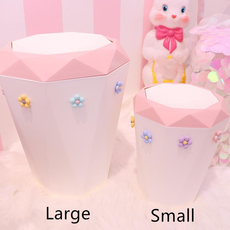 Large Capacity Trash Can Dormitory Bedroom Use